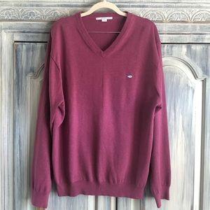 Southern Tide Cotton V-Neck Sweater